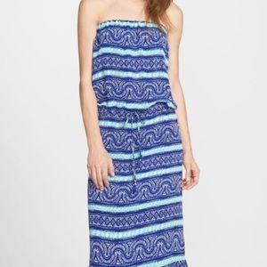 Vineyard Vines Beach Print Maxi Dress XL NWT